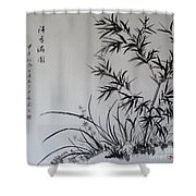 Bamboo Impression Shower Curtain