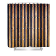 Bamboo Mat Texture Shower Curtain by Tim Hester