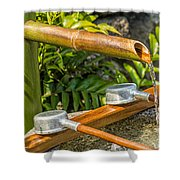 Bamboo Spout Shower Curtain