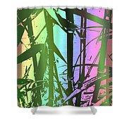 Bamboo Study 8 Shower Curtain