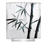 Bamboo Tree Shower Curtain