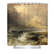Bamborough Castle Shower Curtain by William Andrews Nesfield