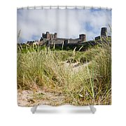 Bamburgh Castle From The Dunes Shower Curtain