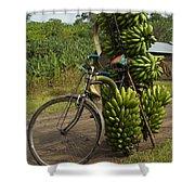 Banana Bike Shower Curtain