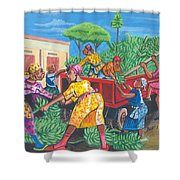 Banana Delivery In Cameroon 01 Shower Curtain