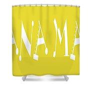 Banana Manna - Yellow - Color - Letter Art Shower Curtain