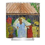 Banana Vendor Shower Curtain