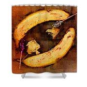 Bananas Pop Art Shower Curtain