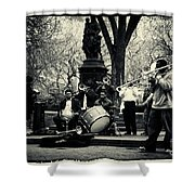 Band On Union Square New York City Shower Curtain