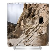Bandelier Caveate - Bandelier National Monument New Mexico Shower Curtain