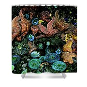 Bandon Beach Oregon Pacific Tidal Pool Shower Curtain