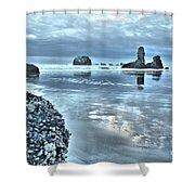 Bandon Beach Scatter Shower Curtain