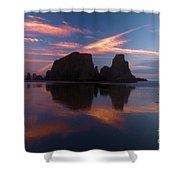 Bandon Beach Skies Shower Curtain