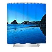 Bandon Blue Shower Curtain