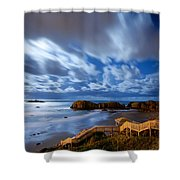 Bandon Nightlife Shower Curtain
