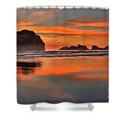 Bandon Orange Pastels Shower Curtain