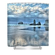 Bandon Sea Stack Reflections Shower Curtain