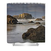 Bandon Sea Stacks Shower Curtain