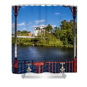 Bandstand View Shower Curtain