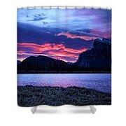 Banff Sunrise  Shower Curtain