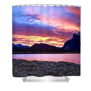 Banff Sunrise Six Minutes Later Shower Curtain