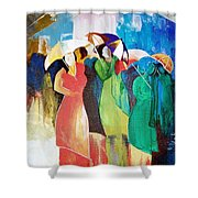 Bangalore Rain Shower Curtain