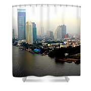 Bangkok In Early Morning Light Shower Curtain
