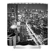 Bangkok Skyline 1 - Thailand Shower Curtain