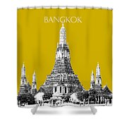 Bangkok Thailand Skyline Wat Arun - Gold Shower Curtain