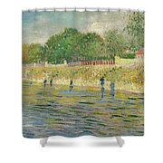 Bank Of The Seine Shower Curtain