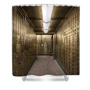 Bank Safe Deposit Boxes Shower Curtain