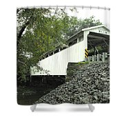 Banks Covered Bridge Shower Curtain
