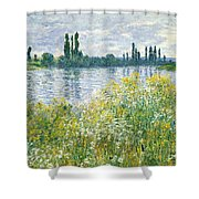 Banks Of The Seine Vetheuil Shower Curtain
