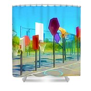Bankshot Basketball 1 Shower Curtain by Lanjee Chee