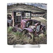 Bannack Ghost Town Truck - Montana Shower Curtain