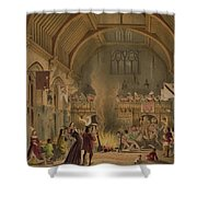 Banquet In The Baronial Hall, Penshurst Shower Curtain