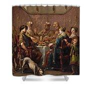 Banquet Scene Shower Curtain