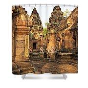 Banteay Srei, Cambodia Shower Curtain