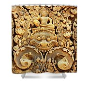 Banteay Srei Carving 01 Shower Curtain