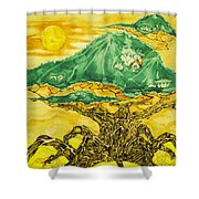 Banyan And Two Suns Shower Curtain