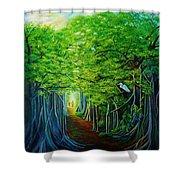Banyan Walk Shower Curtain