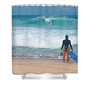 Banzai Pipeline Aqua Dream Shower Curtain