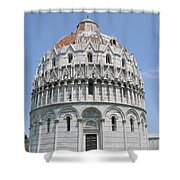 Baptistery Pisa Shower Curtain