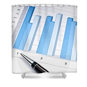 Bar Chart Shower Curtain