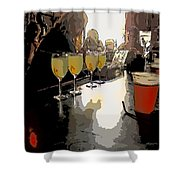 Bar Scene - Absinthe At Pirates Alley Shower Curtain