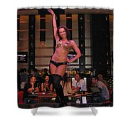Bar Top Dancer In Las Vegas Shower Curtain