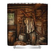 Bar - Weighing The Hops Shower Curtain by Mike Savad
