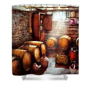 Bar - Wine - The Wine Cellar  Shower Curtain by Mike Savad