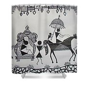 Baraat - The Wedding Procession Shower Curtain