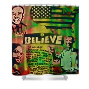 Barack And Martin And Malcolm Shower Curtain